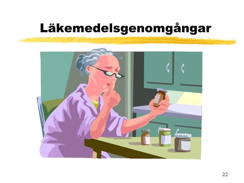 22 Läkemedelsgenomgångar