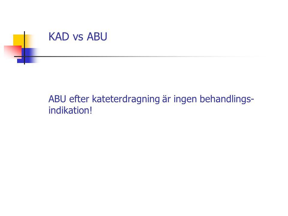 KAD vs ABU ABU efter kateterdragning är ingen behandlings- indikation!
