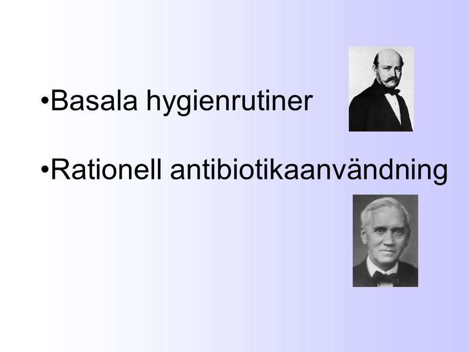 Basala hygienrutiner Rationell antibiotikaanvändning