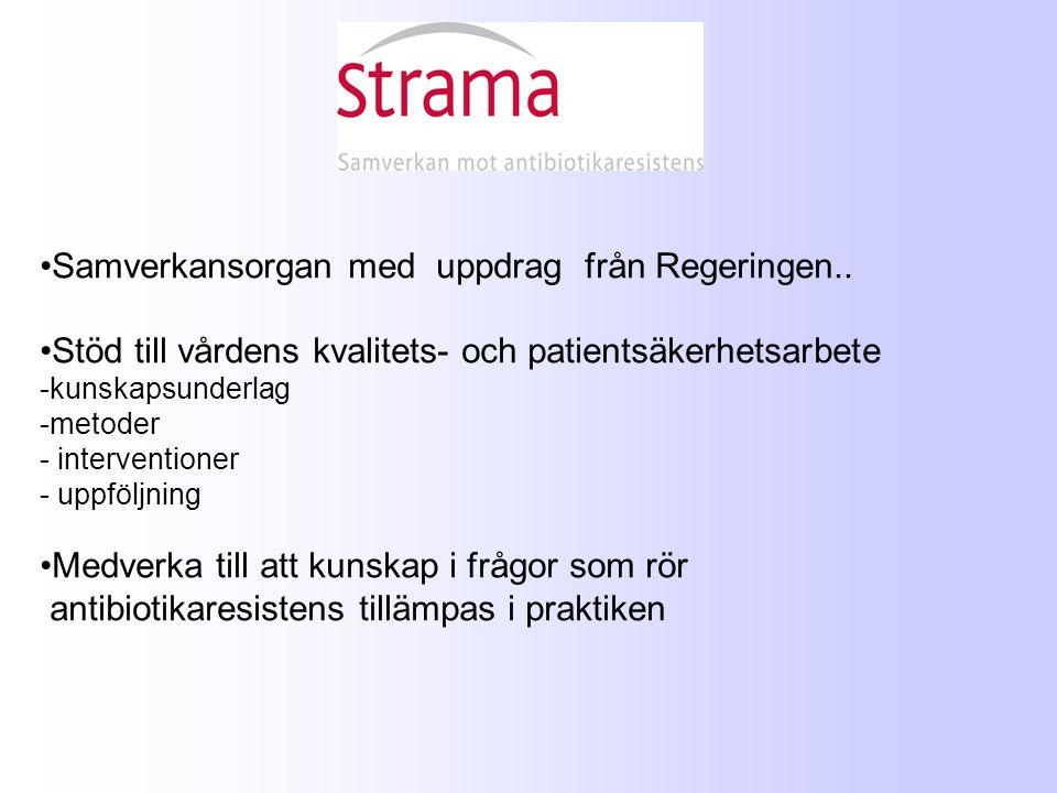 Samverkansorgan med uppdrag från Regeringen.. Stöd till vårdens kvalitets- och patientsäkerhetsarbete -kunskapsunderlag -metoder - interventioner - up