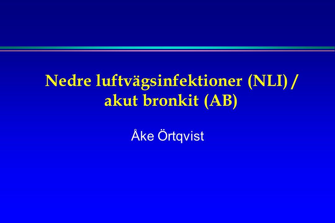 Nedre luftvägsinfektioner (NLI) / akut bronkit (AB) Åke Örtqvist