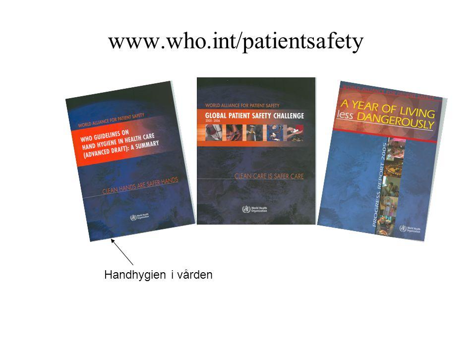www.who.int/patientsafety Handhygien i vården