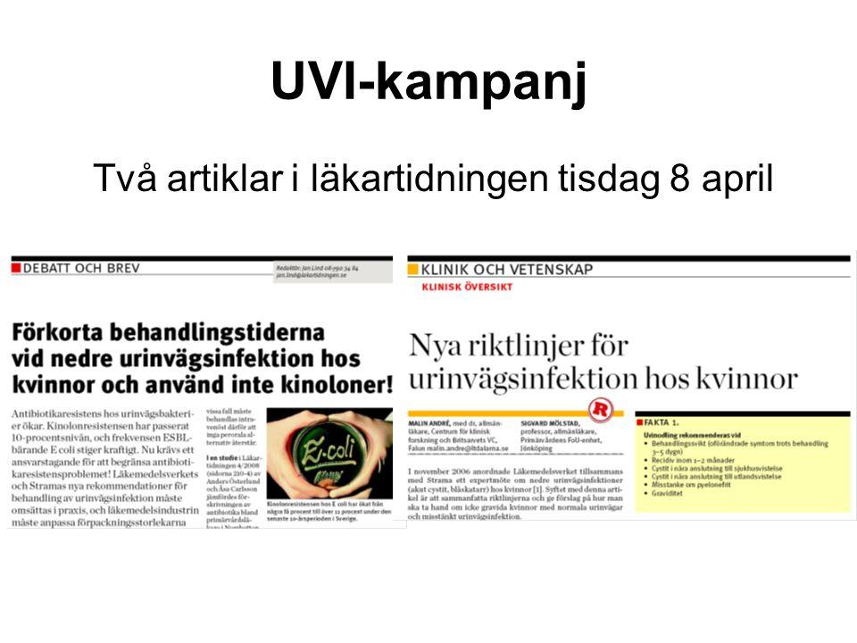 UVI-kampanj Två artiklar i läkartidningen tisdag 8 april