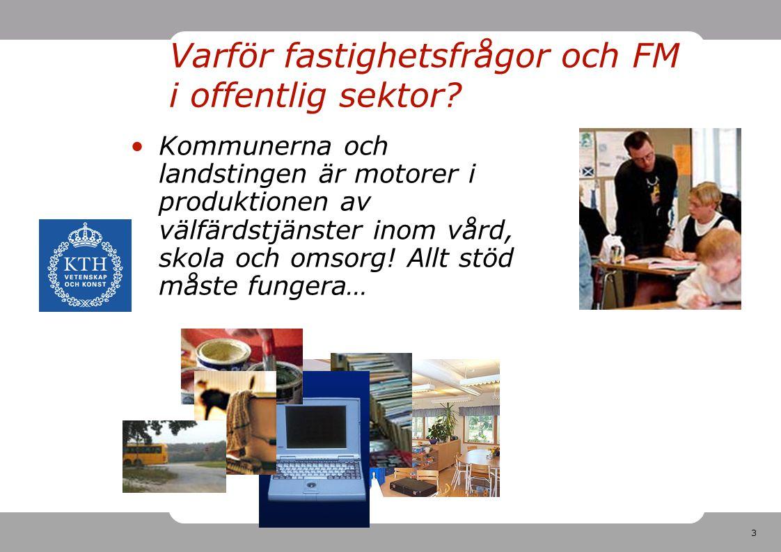 3 Varför fastighetsfrågor och FM i offentlig sektor.