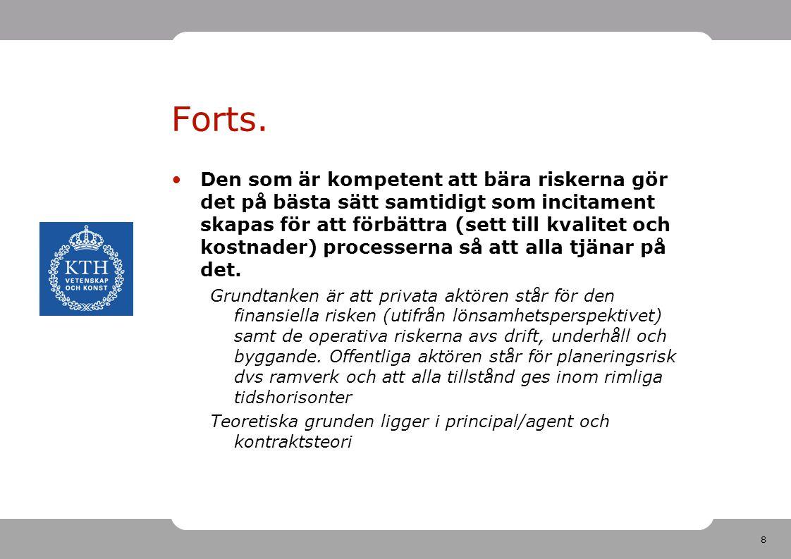 19 Legal definition Institutionella PPP - Bolag Avtalsmässiga PPP -Koncessioner -PFI (Private Finance Initiative)