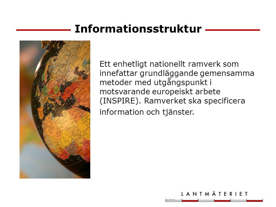Informationsstruktur Ett enhetligt nationellt ramverk som innefattar grundläggande gemensamma metoder med utgångspunkt i motsvarande europeiskt arbete