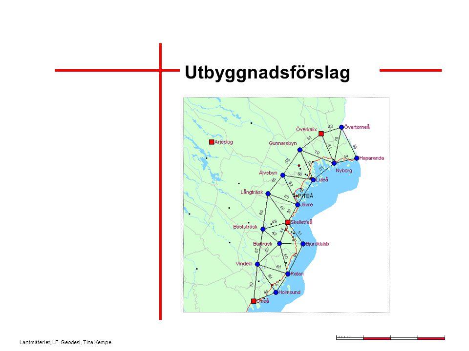Lantmäteriet, LF-Geodesi, Tina Kempe Utbyggnadsförslag