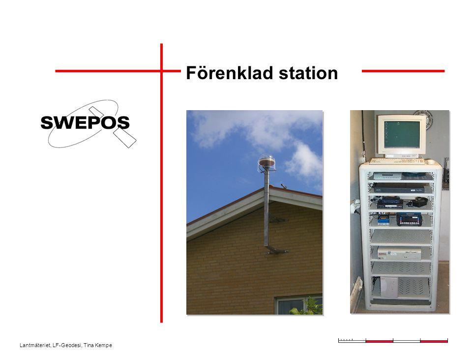 Lantmäteriet, LF-Geodesi, Tina Kempe Förenklad station