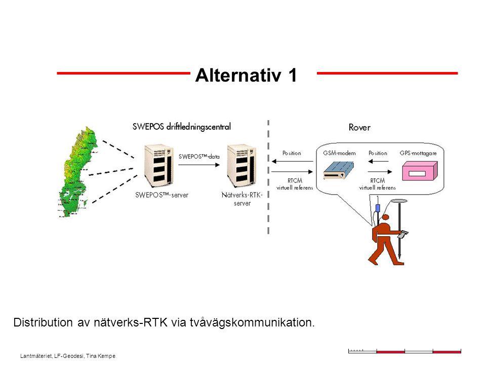 Lantmäteriet, LF-Geodesi, Tina Kempe Alternativ 1 Distribution av nätverks-RTK via tvåvägskommunikation.