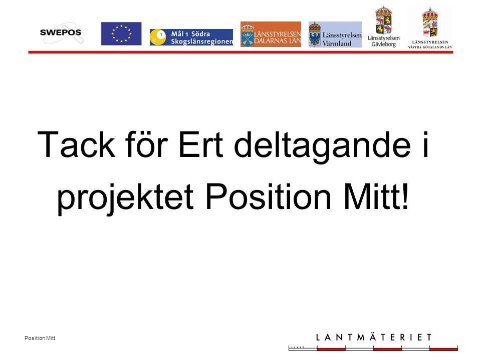 Position Mitt Tack för Ert deltagande i projektet Position Mitt!