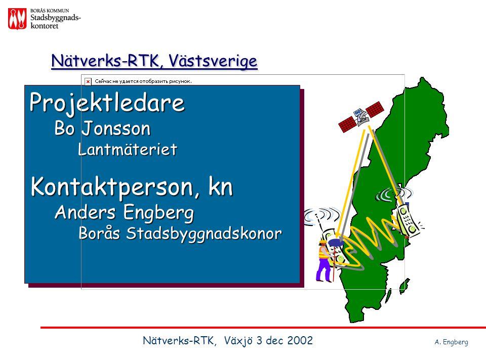Projektledare Bo Jonsson Lantmäteriet Kontaktperson, kn Anders Engberg Borås Stadsbyggnadskonor Projektledare Bo Jonsson Lantmäteriet Kontaktperson, k