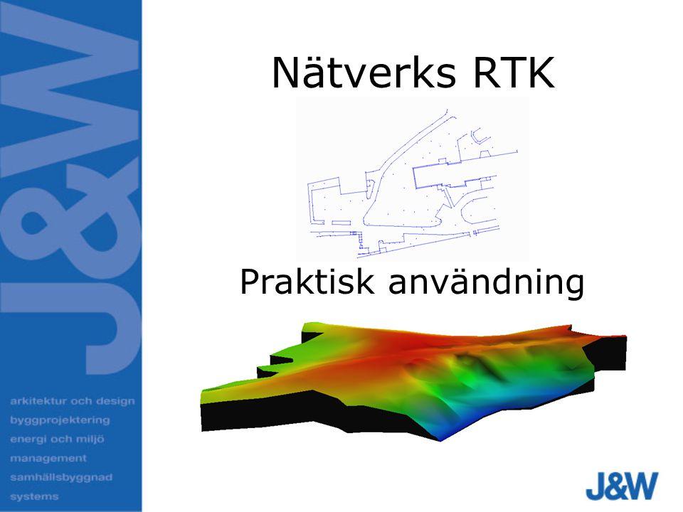 Nätverks RTK Praktisk användning