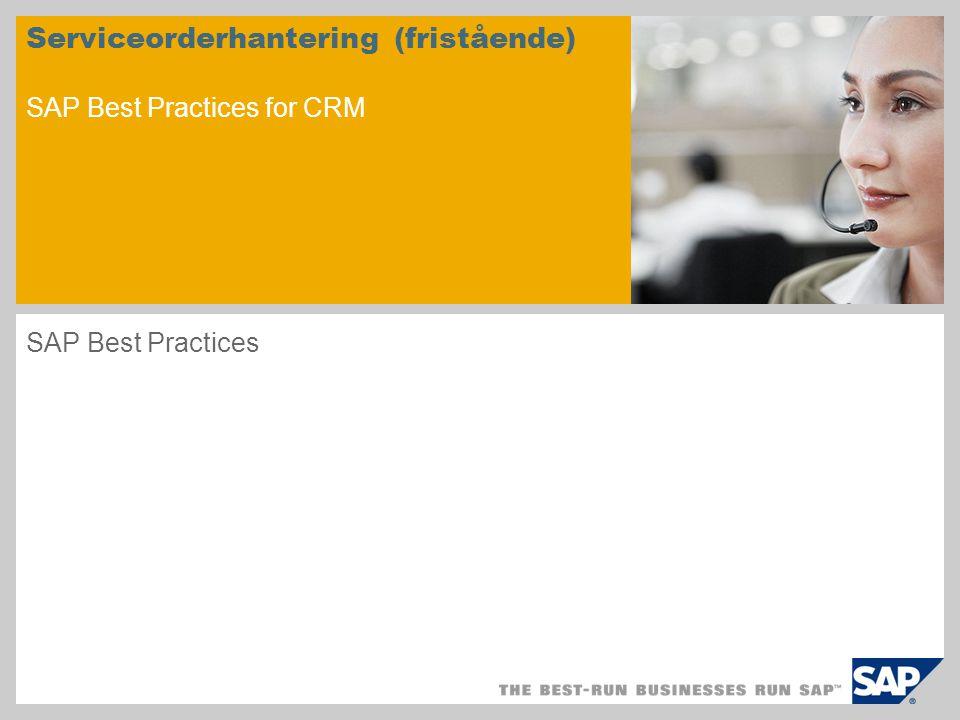 Scenarieöversikt – 1 Syfte Scenariot beskriver hela processflödet för kundservice i ett fristående CRM-system.