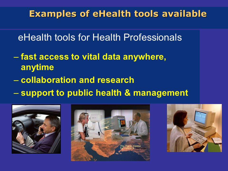 eHealth Challenges Interoperability- technology, semantic, reimbursement, legal, ethics Mobility - cross border Electronic Health Records Medical errors Assessment - proven benefits of eHealth solutions (access, quality, economy) Silas Olsson, European Commission, Kalmar 28 sept 2005