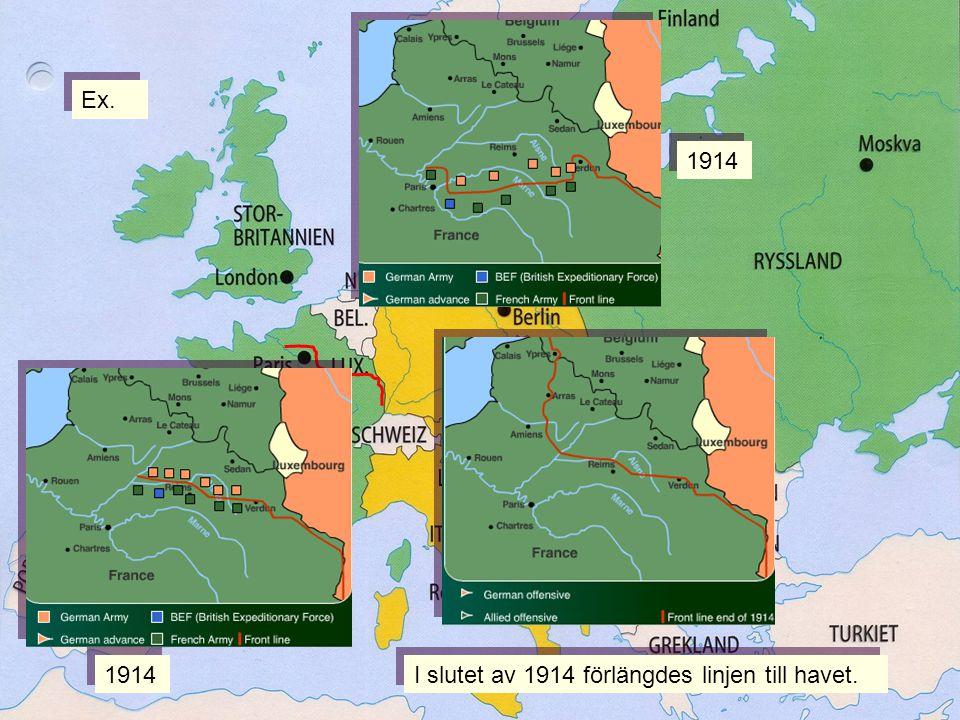 Linjen 1914 I slutet av 1914 förlängdes linjen till havet. Ex.