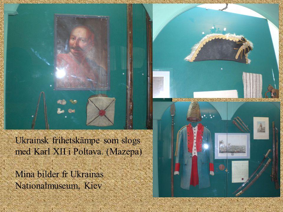 Ukrainsk frihetskämpe som slogs med Karl XII i Poltava. (Mazepa) Mina bilder fr Ukrainas Nationalmuseum, Kiev