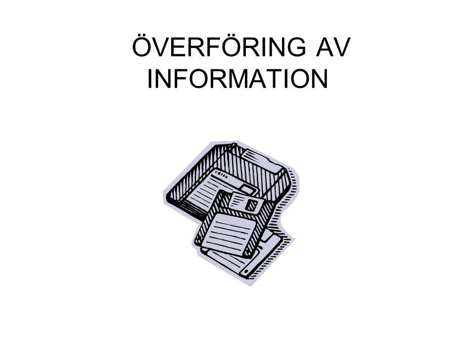 ÖVERFÖRING AV INFORMATION