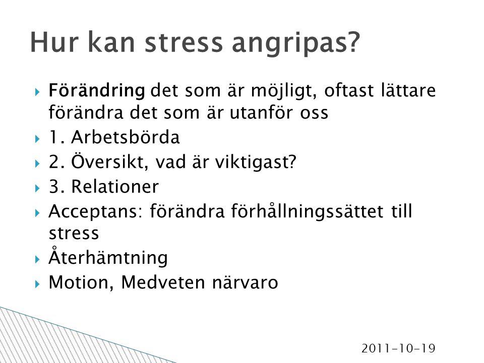 2011-10-19 Hur kan stress angripas.