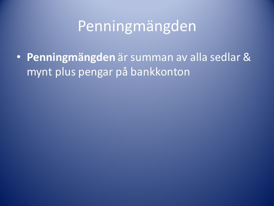 Räntan Om inflationen hotar att bli för hög, kan Riksbanken höja räntan för att minska prisökningstakten Om däremot inflationen ser ut att bli för låg, kan Riksbanken sänka räntan för att stimulera konsumtion och investeringar