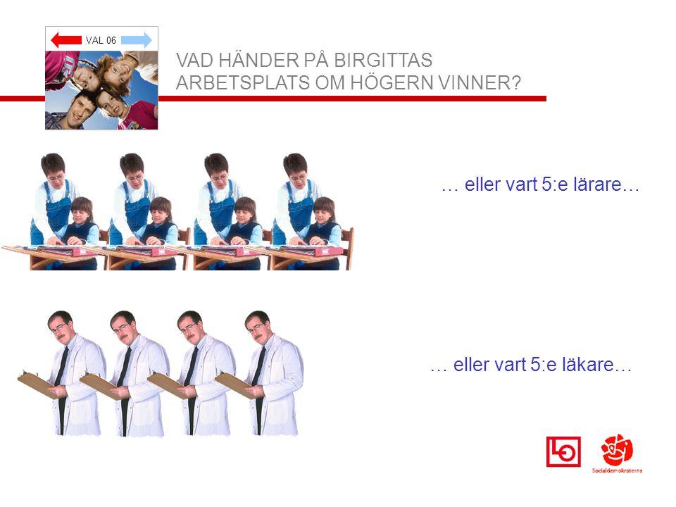 VAL 06 VAD HÄNDER PÅ BIRGITTAS ARBETSPLATS OM HÖGERN VINNER.