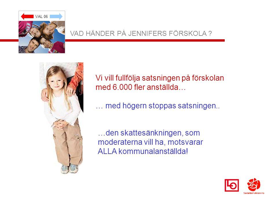 VAL 06 VAD HÄNDER PÅ JENNIFERS FÖRSKOLA .