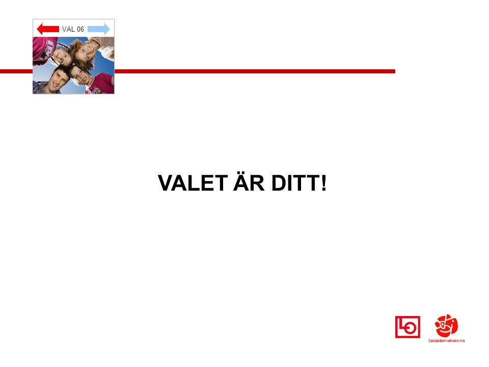 VAL 06 VALET ÄR DITT!