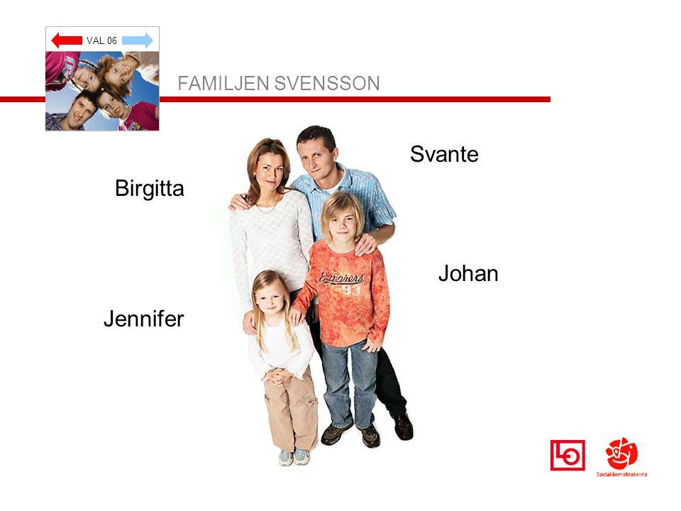 VAL 06 FAMILJEN SVENSSON Svante Johan Jennifer Birgitta