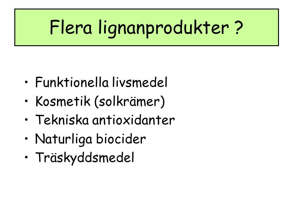 Flera lignanprodukter .