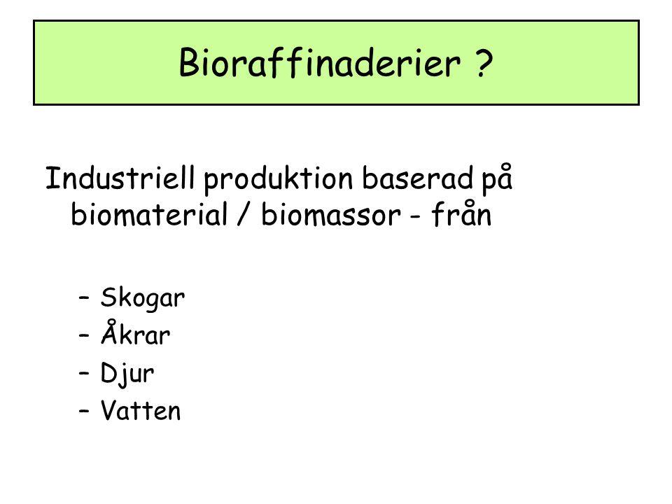 Bioraffinaderier .