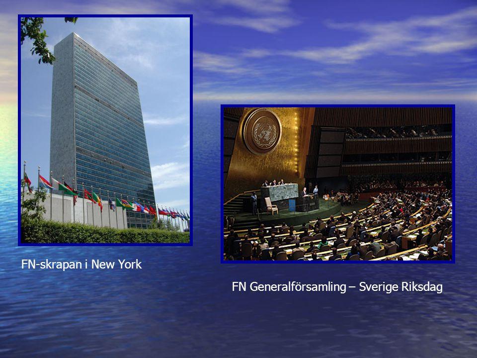 FN Generalförsamling – Sverige Riksdag FN-skrapan i New York