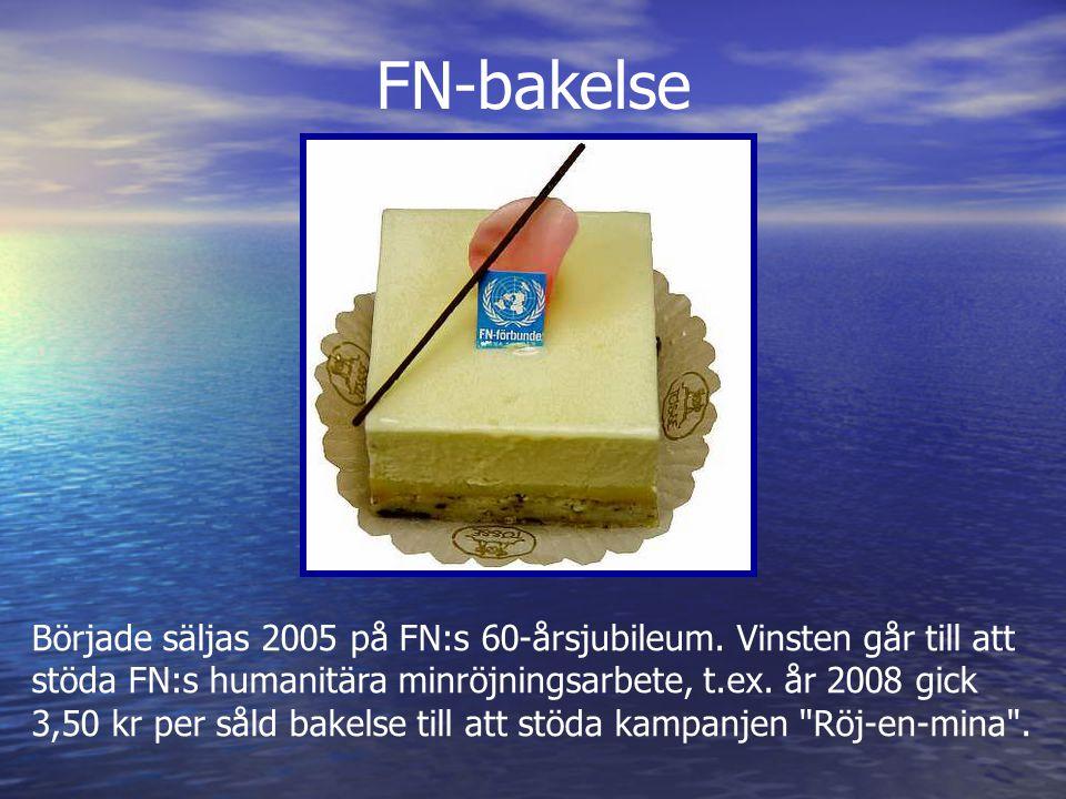 Började säljas 2005 på FN:s 60-årsjubileum.