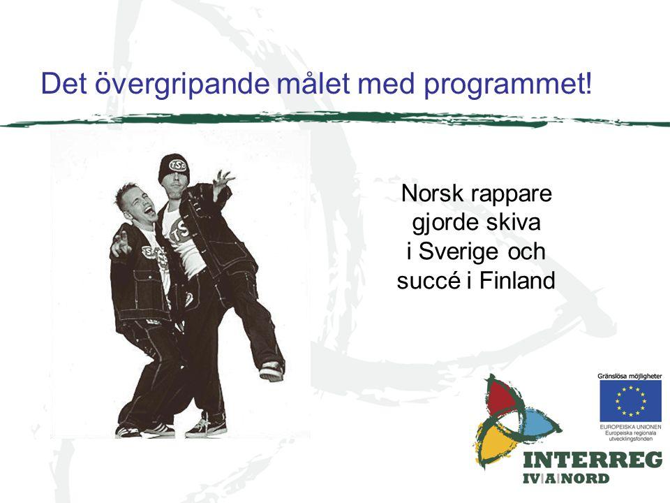 Det övergripande målet med programmet! Norsk rappare gjorde skiva i Sverige och succé i Finland