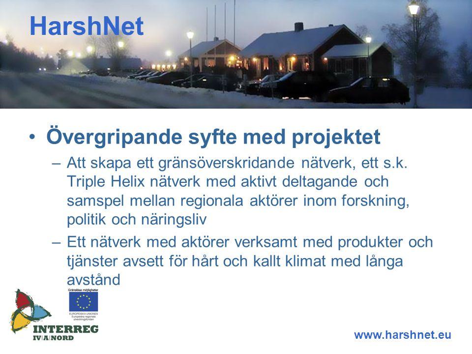 Övergripande syfte med projektet –Att skapa ett gränsöverskridande nätverk, ett s.k.