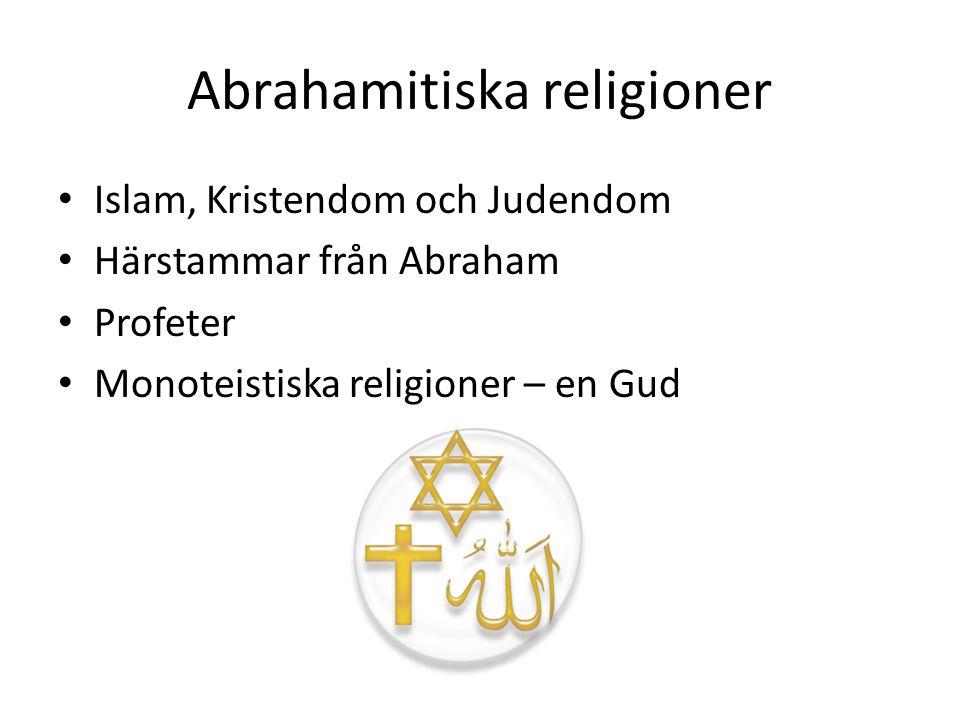 Abraham SaraHagar IsmaelIsak Judendom, Kristendom Islam