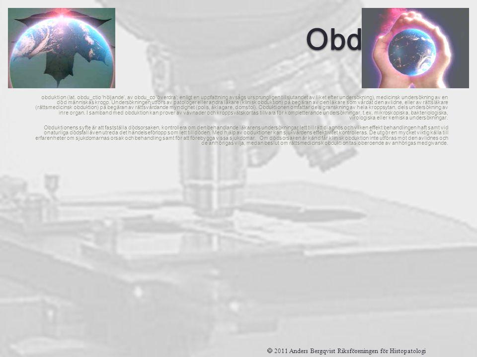 Obduktion obduktion (lat. obdu_ctio 'höljande', av obdu_co 'överdra'; enligt en uppfattning avsågs ursprungligen tillslutandet av liket efter undersök