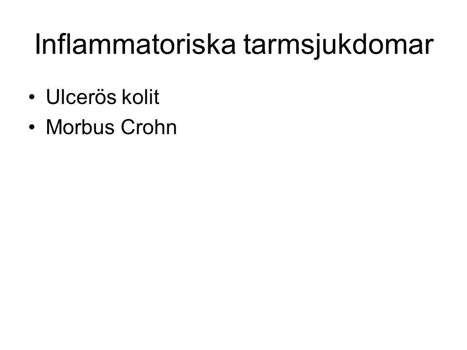 Inflammatoriska tarmsjukdomar Ulcerös kolit Morbus Crohn