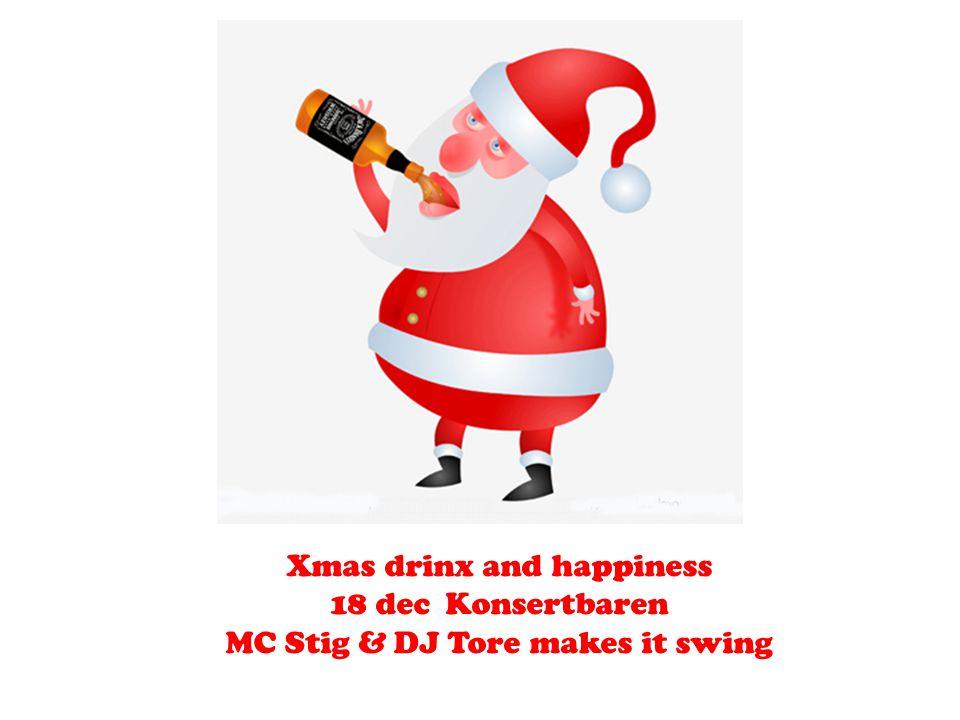 Xmas drinx and happiness 18 dec Konsertbaren MC Stig & DJ Tore makes it swing