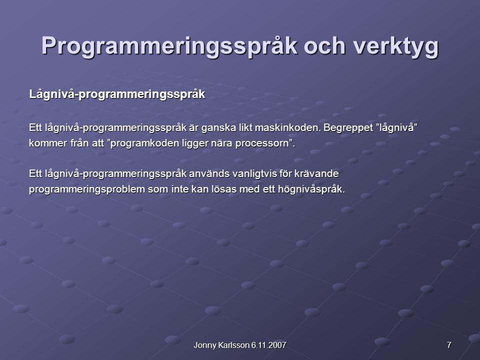 28Jonny Karlsson 6.11.2007 1.