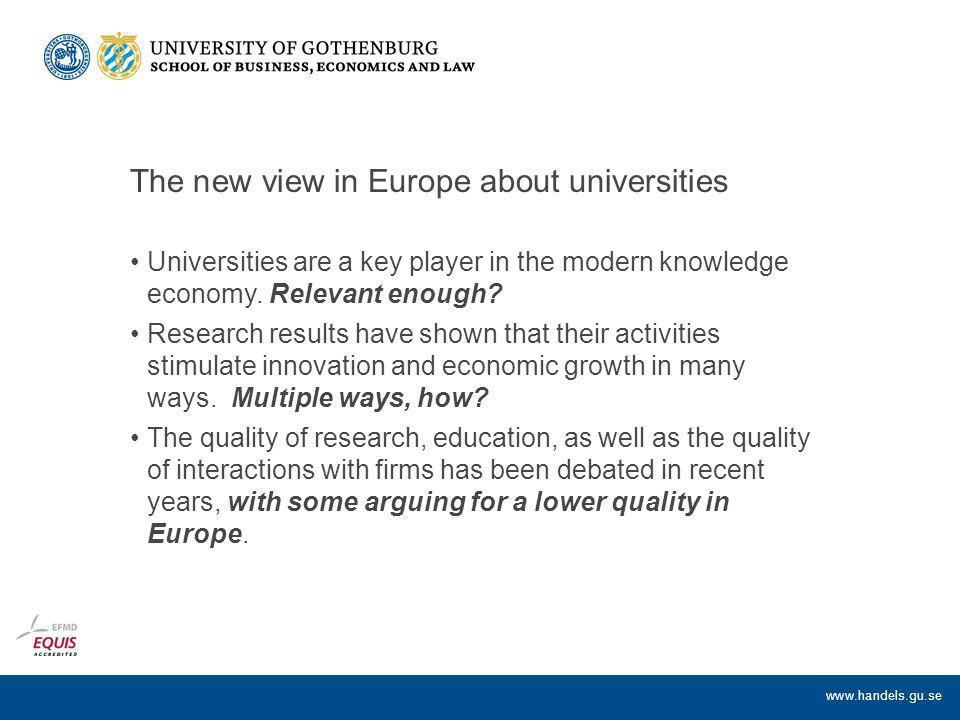 www.handels.gu.se Helhetsbild : Effects on academic environments