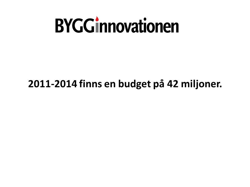 2011‐2014 finns en budget på 42 miljoner.