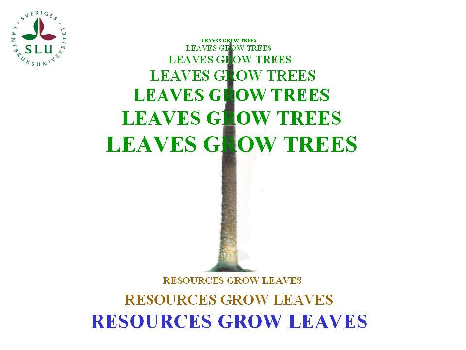 Utgångspunkt Skogens skötsel styrs av ekonomiskt betingade val mellan olika politiskt och biologiskt möjliga åtgärdsalternativ Priset på råvara har betydelse