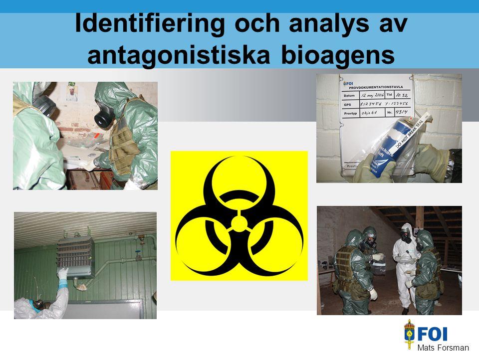 Mats Forsman Identifiering och analys av antagonistiska bioagens