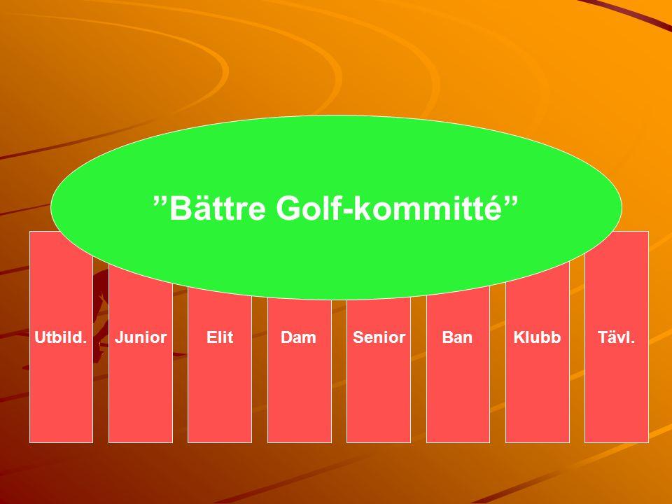 "JuniorElitKlubbBanSeniorDamUtbild.Tävl. ""Bättre Golf-kommitté"""