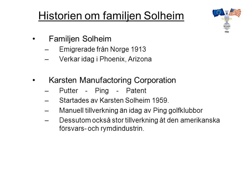 Solheim Cup organisation PMG 49% 51% Svenska Golfförbundet VÄRD -IDROTTSUTVECKLING -MARKNADSSTÖD -ARRANGÖRSSTÖD -PROJEKTLEDNING -SPONSORER -LEVERANTÖRER -TV-AVTAL -BILJETTER