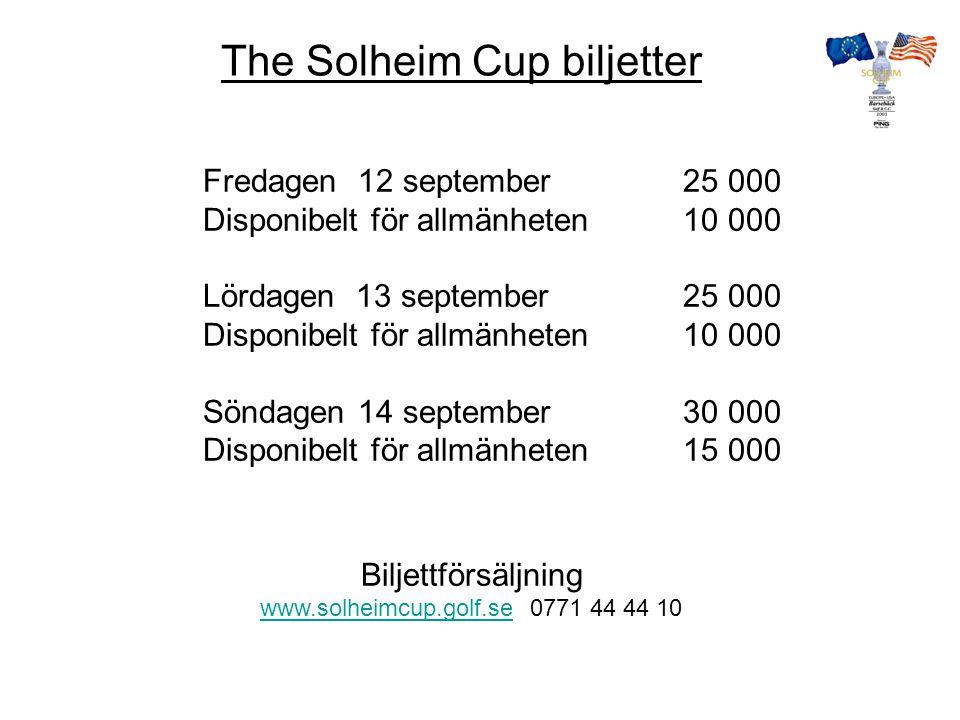 FESTLIGT FOLKLIGT FULLSPIKAT ! Välkommen hälsar Svenska Golfförbundet