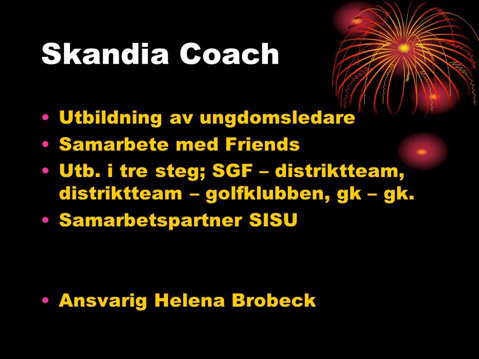 Skandia Coach Utbildning av ungdomsledare Samarbete med Friends Utb.