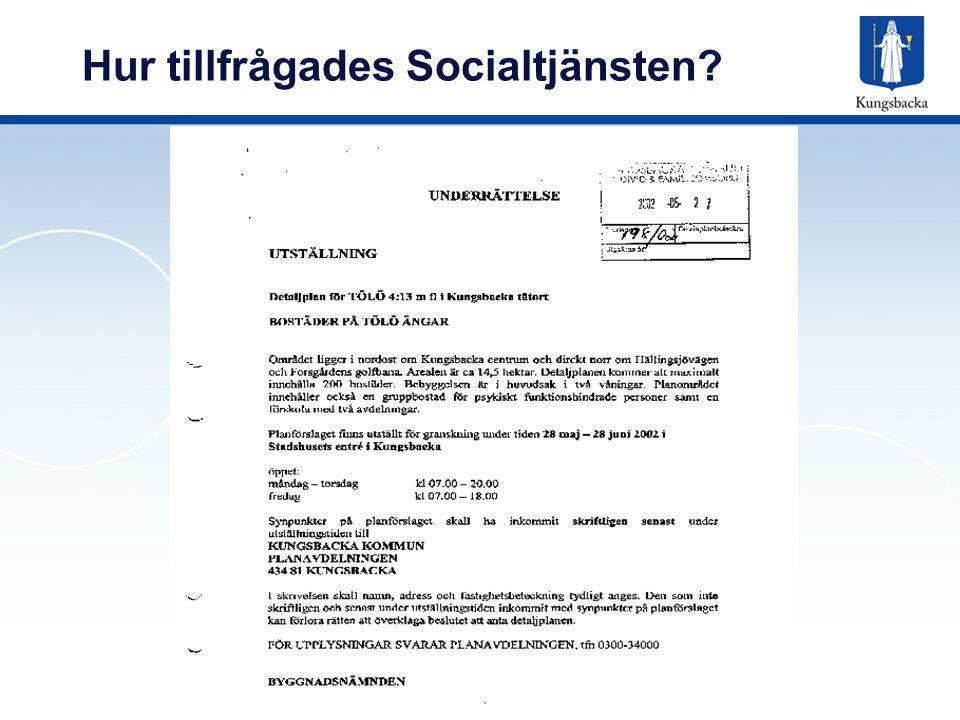 Hur tillfrågades Socialtjänsten?