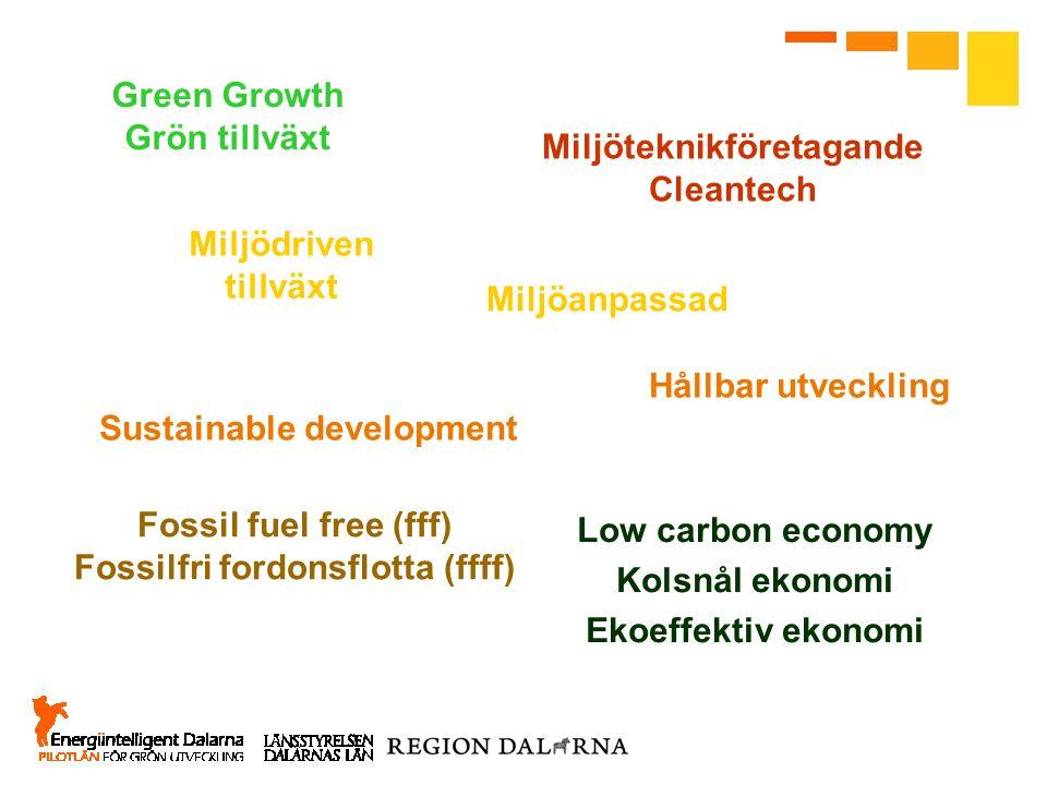 Low carbon economy Kolsnål ekonomi Ekoeffektiv ekonomi Hållbar utveckling Sustainable development Green Growth Grön tillväxt Miljöteknikföretagande Cl
