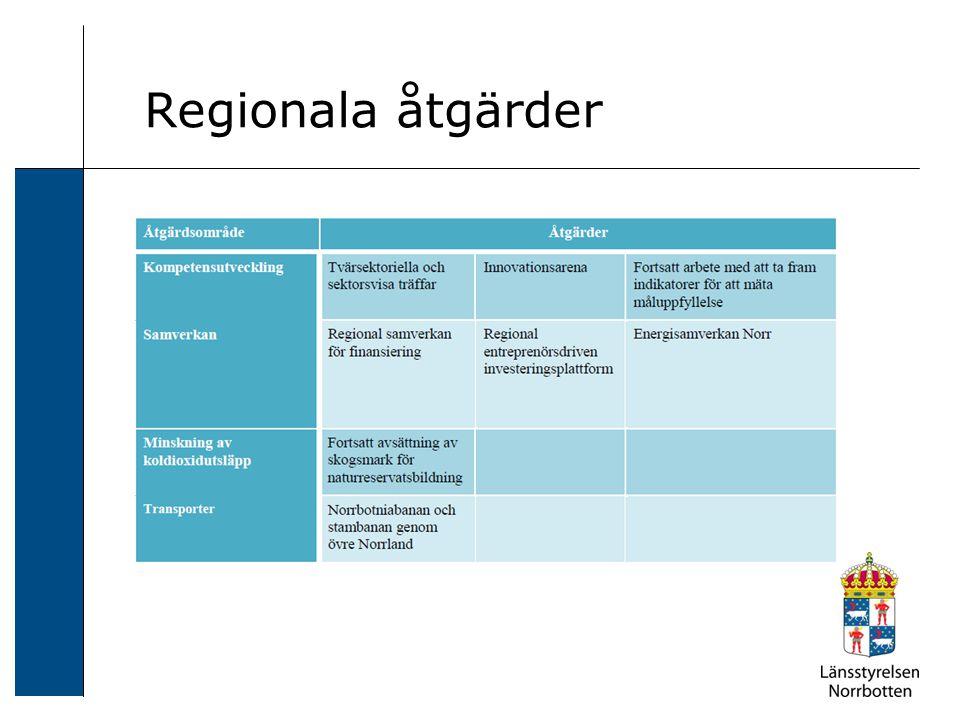Regionala åtgärder