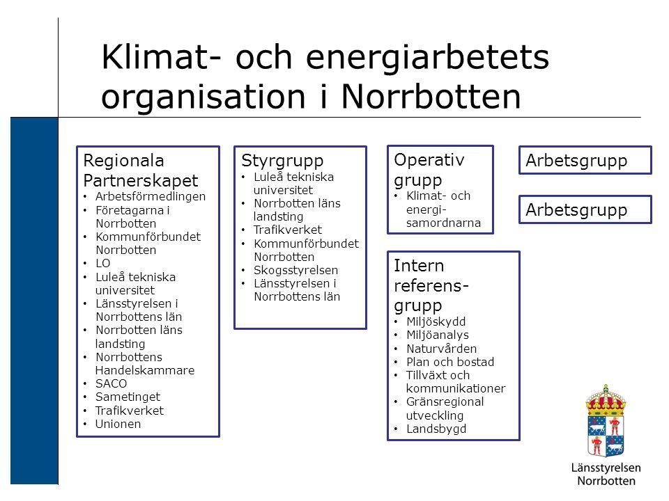 Regionala Partnerskapet Arbetsförmedlingen Företagarna i Norrbotten Kommunförbundet Norrbotten LO Luleå tekniska universitet Länsstyrelsen i Norrbotte